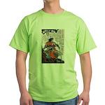 Japanese Samurai Warrior Masanao (Front) Green T-S