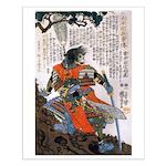 Japanese Samurai Warrior Masanao Small Poster