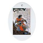 Japanese Samurai Warrior Masanao Oval Ornament