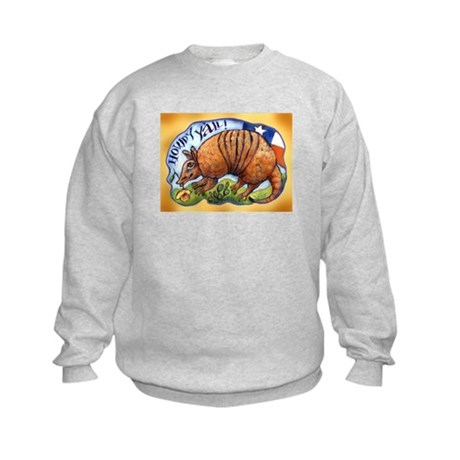 Armadillo Texas Howdy Kids Sweatshirt