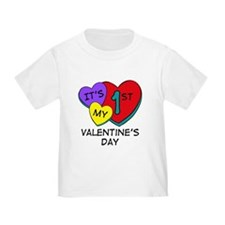 1st Valentine's Day Hearts T