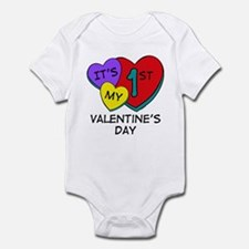 1st Valentine's Day Hearts Infant Bodysuit