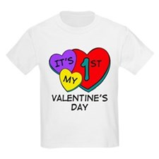 1st Valentine's Day Hearts T-Shirt