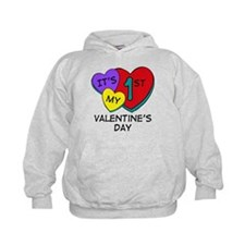 1st Valentine's Day Hearts Hoodie