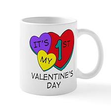 1st Valentine's Day Hearts Mug