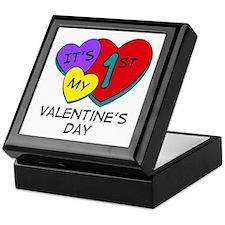 1st Valentine's Day Hearts Keepsake Box