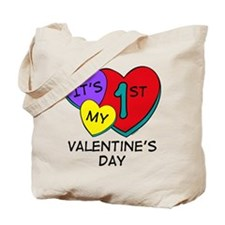 1st Valentine's Day Hearts Tote Bag