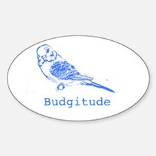 Budgitude Oval Decal