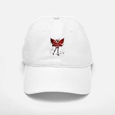 Butterfly Kisses Ruby Baseball Baseball Cap