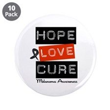 "Melanoma HopeLoveCure 3.5"" Button (10 pack)"