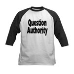Question Authority Kids Baseball Jersey