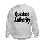 Question Authority Kids Sweatshirt