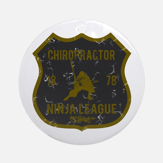 Chiropractor Ninja League Ornament (Round)