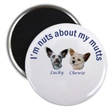 "Chewie and Lucky 2.25"" Magnet (10 pack)"