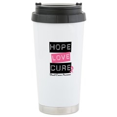 HopeLoveCure BreastCancer Travel Mug