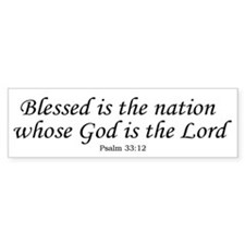 Blessed Nation Bumper Bumper Sticker