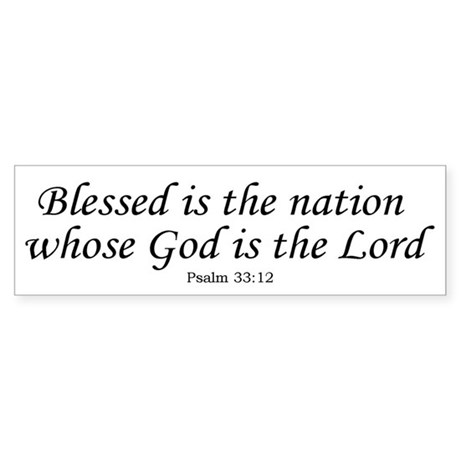 Blessed Nation Bumper Sticker