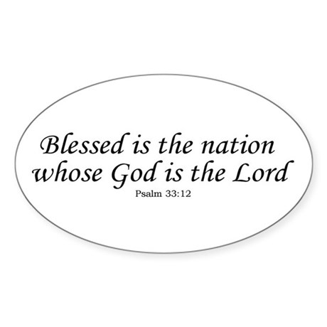 Blessed Nation Oval Sticker