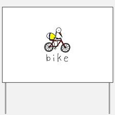 Bike Bird Yard Sign