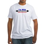 I'm With Monkeys Fitted T-Shirt