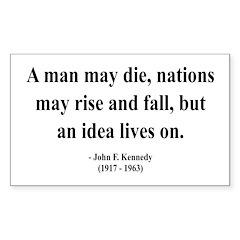 John F. Kennedy 3 Rectangle Decal