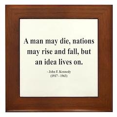 John F. Kennedy 3 Framed Tile