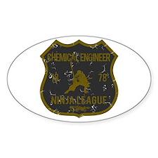 Chemical Engineer Ninja League Oval Decal