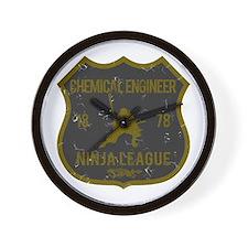 Chemical Engineer Ninja League Wall Clock