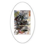 Japanese Samurai Warrior Narishige Oval Sticker