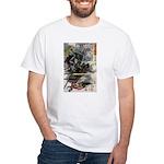 Japanese Samurai Warrior Narishige White T-Shirt