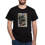 Japanese Samurai Warrior Narishige (Front) Dark T-
