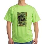 Japanese Samurai Warrior Narishige Green T-Shirt