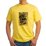 Japanese Samurai Warrior Narishige Yellow T-Shirt