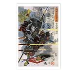 Japanese Samurai Warrior Narishige Postcards (Pack