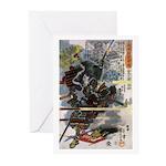 Japanese Samurai Warrior Narishige Greeting Cards