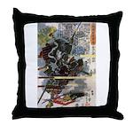 Japanese Samurai Warrior Narishige Throw Pillow