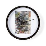 Japanese Samurai Warrior Narishige Wall Clock
