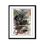 Japanese Samurai Warrior Narishige Framed Panel Pr