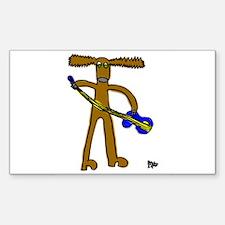 Reindeer Rectangle Sticker 50 pk)