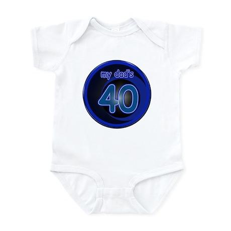 Dad's 40 & Blue Infant Bodysuit