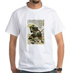 Japanese Samurai Warrior Naotsugu White T-Shirt