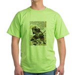 Japanese Samurai Warrior Naotsugu (Front) Green T-