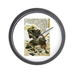 Japanese Samurai Warrior Naotsugu Wall Clock