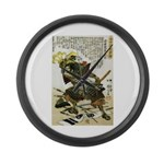 Japanese Samurai Warrior Naotsugu Large Wall Clock