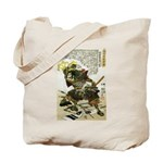 Japanese Samurai Warrior Naotsugu Tote Bag