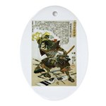 Japanese Samurai Warrior Naotsugu Oval Ornament