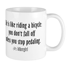 Life is like riding a bicycle Lefty Mug
