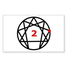 Enneagram Type 2 Rectangle Decal
