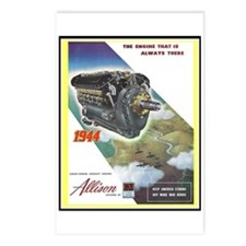 """""""WWII Allison Engines"""" Postcards (Package of 8)"""