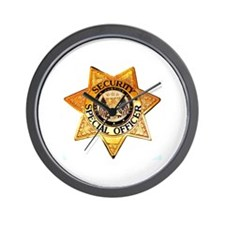 Security Special Officer Wall Clock